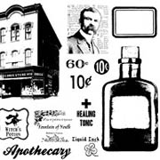 Apothecary & Drug Store Cling Stamp Set