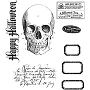 Tim Holtz Apothecary Cling Stamp Set