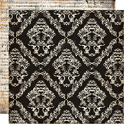 Arsenic and Lace Scrapbook Paper - Large Damask