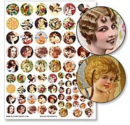 Round Pendants Collage Sheet