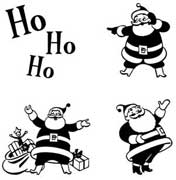 Retro Santas Rubber Stamp Set