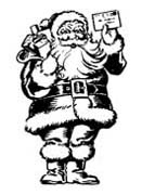 Santa Mail Rubber Stamp