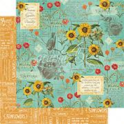 Time To Flourish - August Flourish Scrapbook Paper