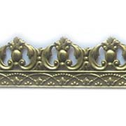 Embossed Brass Trim - Ball & Leaf