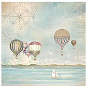 Sea Land Balloons Decoupage Rice Paper