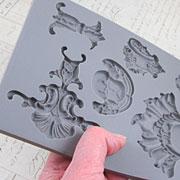 Baroque 2 - Florals & Frames Silicone Mold