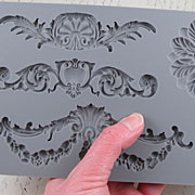 Baroque 3 - Medallion & Filigree Silicone Mold