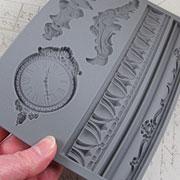 Baroque 6 - Clock, Finial & Borders Silicone Mold