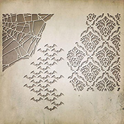 Halloween Die Set - Bats, Spider Web, Damask