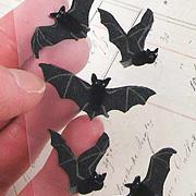 Tiny Felt Black Bat Stickers*