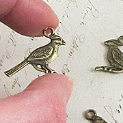 Bronze Bird on Branch Charm*