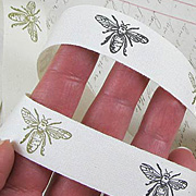 Printed Canvas Ribbon - Bees