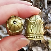 Bronze Fancy Bell-Shaped Bead Cap