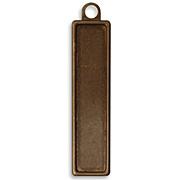 Vintage Brass Rectangle Bezel - 56x13mm