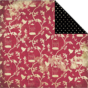 Red Birdcage Scrapbook Paper