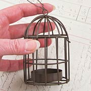 Metal Birdcage with Tealight Holder