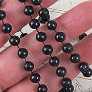 Black Mardi Gras Beads