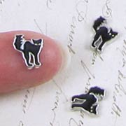 Tiny Black Cat Charms*
