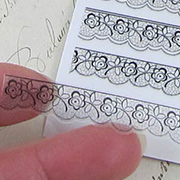 Black Floral Lace Clear Stickers