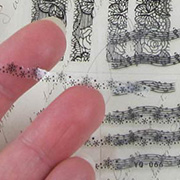 Tiny Black Lace Border Stickers Mix - 5 Sheets