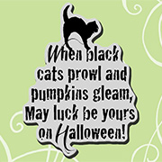 When Black Cats Prowl Cling Stamp