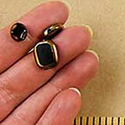 Black Window Beads - Small