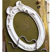 Memory Hardware Resin Frames - Papillon Blanc Oval