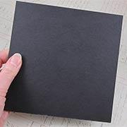 6x6 Black Chipboard