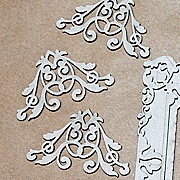 Fancy Chipboard Corners - Set of 4*
