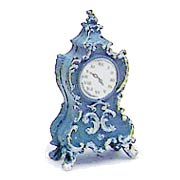Fancy Blue Mantel Clock