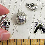 Antique Silver Body Parts Charms