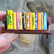 Mini Book Rack with Books