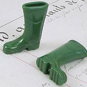 Mini Green Rain Boots