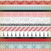 Amour Border Strips Scrapbook Paper**