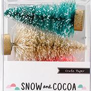 Snow & Cocoa Bottle Brush Tree Set