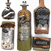 Vintage Bottles and Labels Stickers*