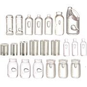Set of Unlabelled Jars, Bottles & Tins