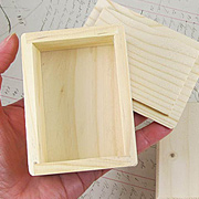 Small Wood Box - with Lid*