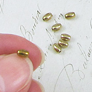 4mm Oval Raw Brass Beads