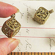 Square Brass Bead Cages