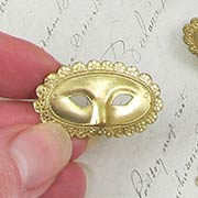 Brass Mask with Scalloped Edge