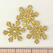 Brass Snowflake Charms