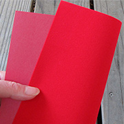 Bright Red Suede Paper*