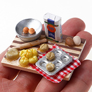 Miniature Brioche Baking Scene