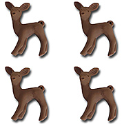 Oh Deer Resin Charms - Brown*