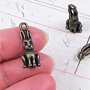 Bronze Sitting Rabbit Charm*