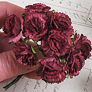 Mulberry Paper Carnations - Burgundy*