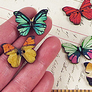 Colorful Butterfly Buttons