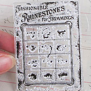 Vintage Button Card Clear Stamp
