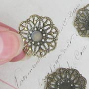 Tiny Cake Plate Filigree